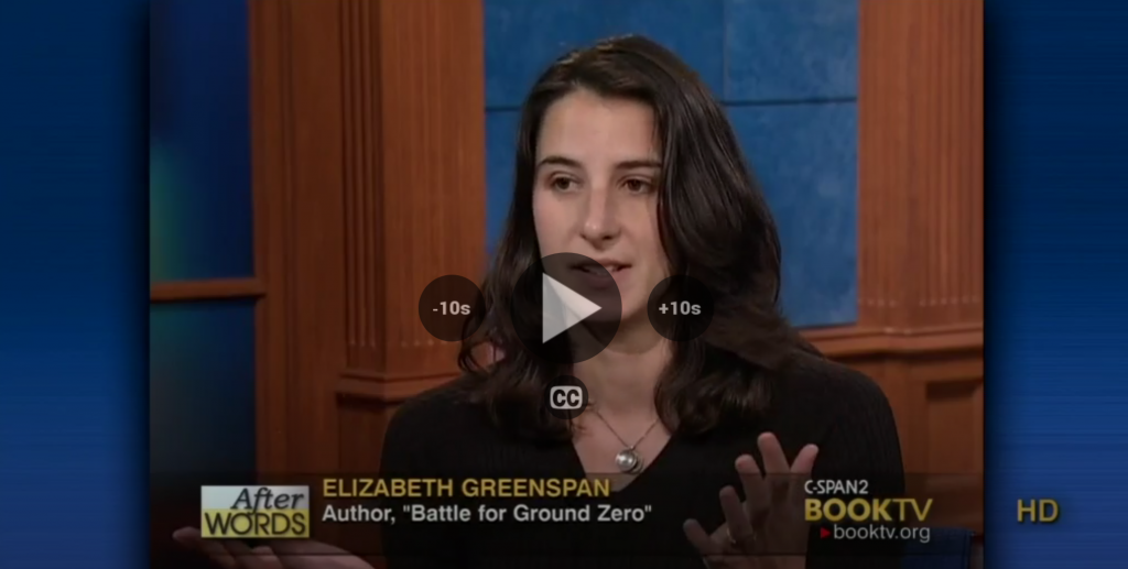 Liz Greenspan on CSPAN